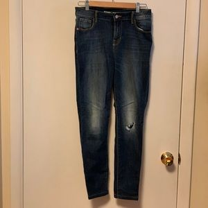 Old Navy high rise rockstar with busted knee